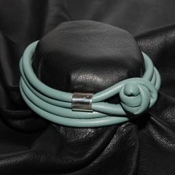 Weiches Knotenlederband aus Nappaleder, salvia